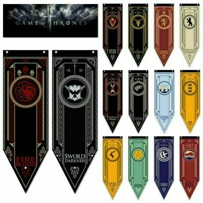 Game of Thrones Harry Potter Office School Banner Flag Wall Hanging Home Decor