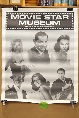 Movie Star Museum Silver Screen 1933 - 1947 Poster Gable Rodgers Astaire Flynn