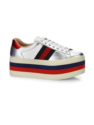 fa08066b7f3c GUCCI MEN S NEW Ace Leather Low-Top Platform Sneaker