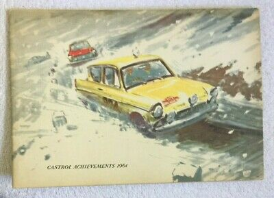 CASTROL ACHIEVEMENTS for 1961.  Austin Healey, Race, Rally, Motorcycle