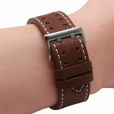 Brown Replace Genuine Leather Wristwatch Band Strap For Hamilton Samsung Gear S3