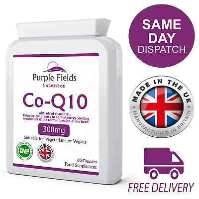 Co Enzyme Q10 CoQ10 300mg 60 Capsules Naturally Fermented Trans Form UK Made