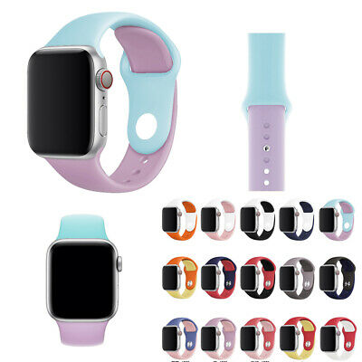 For Apple Watch iWatch Soft Silicone Sport Bracelet Band Wrist Strap Replacemen