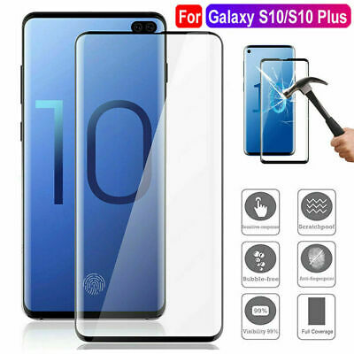 5D Curved Tempered Glass Screen Protector For Samsung Galaxy S10 Plus S10e S10