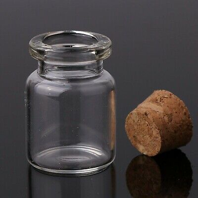 5ml Small Mini Glass Bottles with Cork Arts and Craft 22mm x 30mm