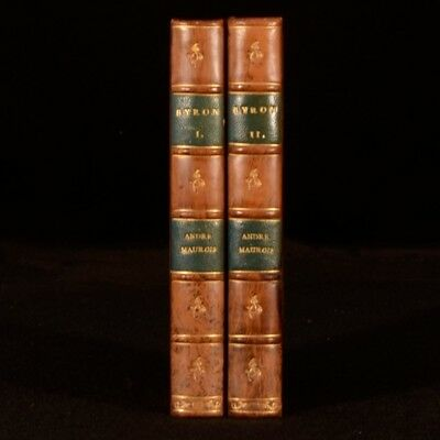 1930 2vol Byron Andre Maurois French Biography Fine Binding First Edition