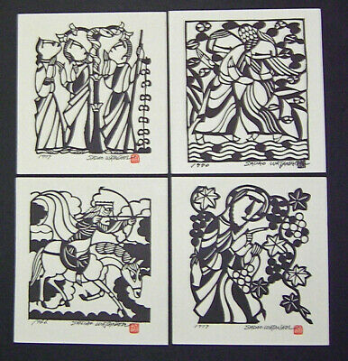 SADAO WATANABE Japanese Reproduction Prints GROUP OF FOUR PRINTS (2)