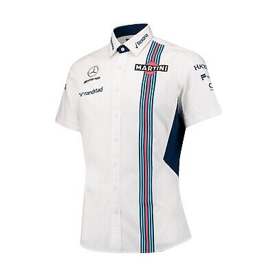 SHIRT Mens Williams Martini F1 Formula One 1 NEW! Mercedes Short Sleeve White