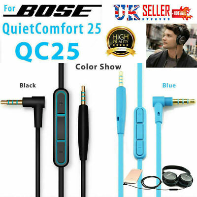Replacement Audio Aux Cable Cord Wire With Mic For Bose QuietComfort QC35 QC25