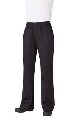 Chef Works Womens Essential Baggy Chef Pants Black Restaurant Hotel Cafe PW005