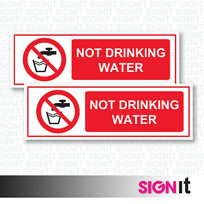 Not Drinking Water Alt - Not Drinking Water Sign Vinyl Sticker (50mm x 150mm)