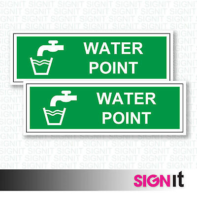 Water Point - Water Point Sign Vinyl Sticker (50mm x 150mm)