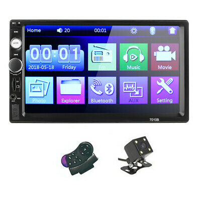 7 Inch DOUBLE 2DIN Car MP5 Player BT Tou&ch Screen Stereo Radio HD&Camera