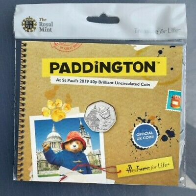 NEW Paddington at St Pauls Cathedral 50p Coin Royal Mint BU BUNC Sealed Folder