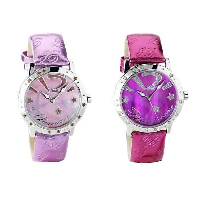 Orologio Donna BLUMARINE Vera Pelle Rosa Fucsia Swarovski Lady NEW
