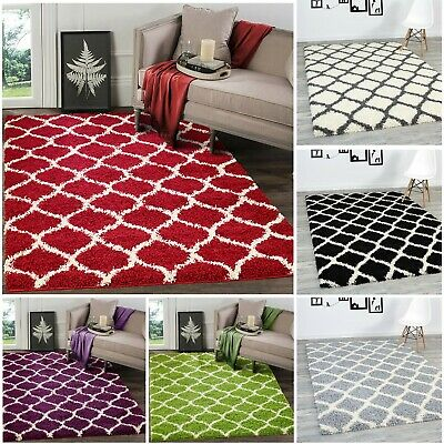 A2Z Rug Soft Fluffy Shaggy Rugs Living Rooms Rug Geometric Bedrooms Area Carpets