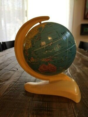 VINTAGE EARTH GLOBE- MS TOY MADE IN GERMANY 1960's MCM Bakelite Eames style