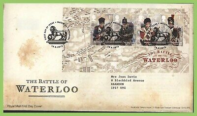 G.B. 2015 Battle of Waterloo M/S on Royal Mail First Day Cover, Liverpool