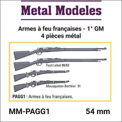 """Figurine miniature """"Accessories French firearms 1° GM"""" - MM-PAGG1 Metal Modeles"""