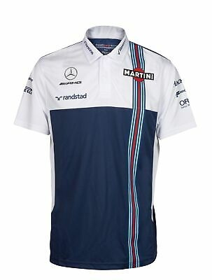POLO Mens Williams Martini F1 Formula One 1 NEW Mercedes Poloshirt RP Nvy Wht