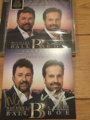 Michael Ball And Alfie Boe Signed Together Again Cd/Dvd Deluxe Edition-Proof