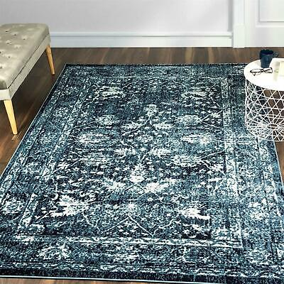 Large Sizes Geometric Floral Pattern Rugs Traditional Vintage Flower Border Mats