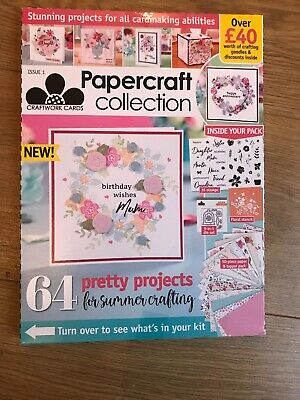Papercraft Collection Issue 1 +Over £40 Of Crafting Goodies Inside & 64 Projects