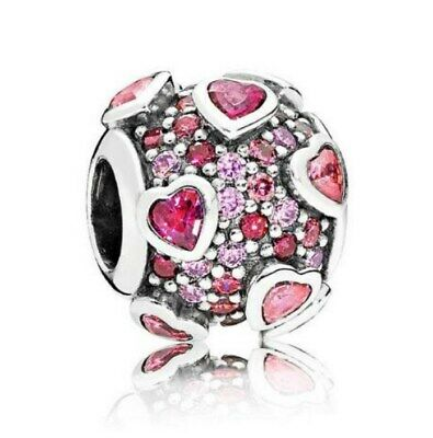 925 Sterling Silver Explosion Of Love Charm Multi Colored CZ Valentines Day Bead