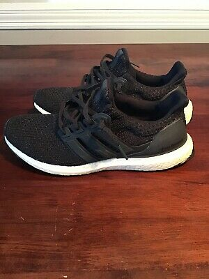 d234bf4d9bb Adidas Men s Ultra Boost 4.0 CM8116 Carbon Black White Size 9.5 ULTRABOOST