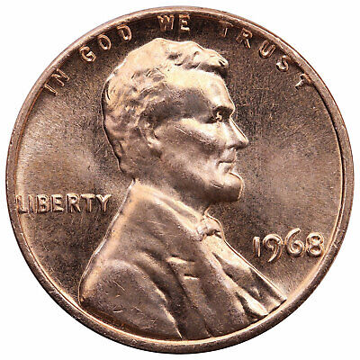 1968 Lincoln Memorial Cent Choice BU Penny US Coin