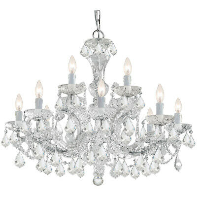 Crystorama 4479-CH-CL-MWP Maria Theresa Chandelier Polished Chrome