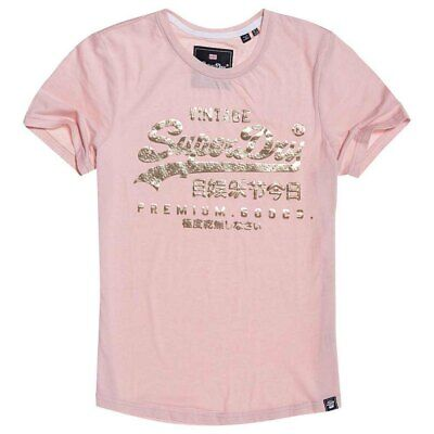 SUPERDRY DAMEN T SHIRT Premium Goods Puff Infill T Shirt in