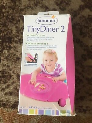 Summer Tiny Diner 2 Mat, Portable Placemat Pink 6m+