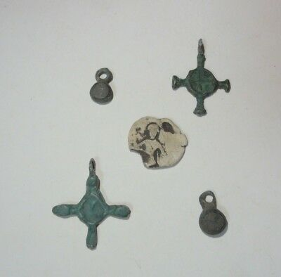 Ancient Viking lot bronze cross Kievan Rus 10-12 century AD lot