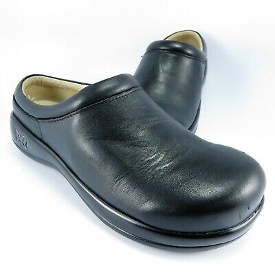Clothing, Shoes & Accessories D11036 Responsible Alegria Kayla Kay-435 Womens Blk Leather Professional Clogs Sz 9-9.5 M