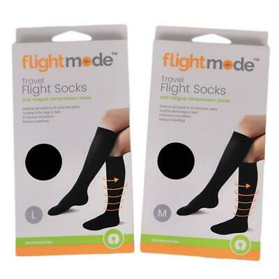 Travel Flight Socks Compression Sock Support Stocking reduce Swelling 2 Pairs