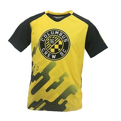reputable site a0b8c b830a Columbus Crew SC Official MLS Kids Youth Size Jersey-Style Athletic Shirt  New