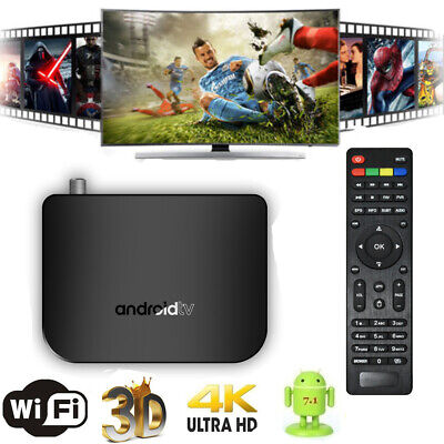 MECOOL M8S PLUS smart 4K Android7.1 1GB+8GB S905D Quad core wifi HD TV Box Q5T7