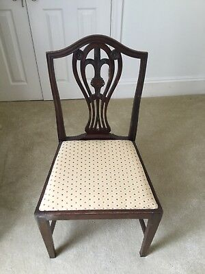 Antique Mahogany Bedroom Chair Walker & Sons London, Newly Upholstered