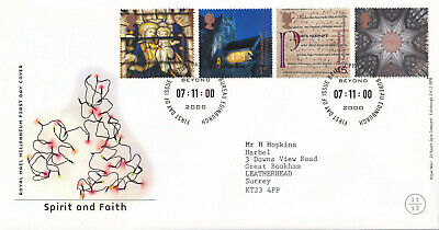 (27988) GB FDC Christmas Spirit & Faith Bureau 2000