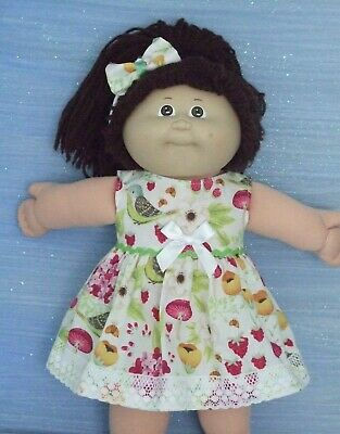 "16"" CABBAGE PATCH Dolls Clothes / flowers & birds / DRESS & HEADBAND"