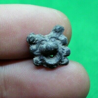 Small Ancient Roman Lion Head Amulet / Decoration - 100/300 Ad