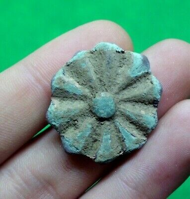 Superb Ancient Celtic Druids Bronze Solar Amulet / Mount - 100 Bc