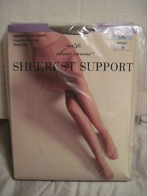 f17a4a138d3 3 Pair JC Penney Penny Sheer Caress Sheerest Support Pantyhose Walnut LONG
