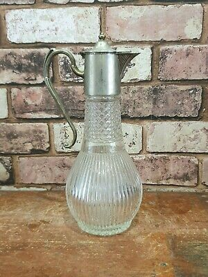 Vintage Silver Plated Decorative Glass Decanter