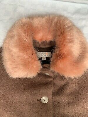 Wild And Gorgeous Girls Christmas Coat - Pink Light Pinky Brown Age 8-9