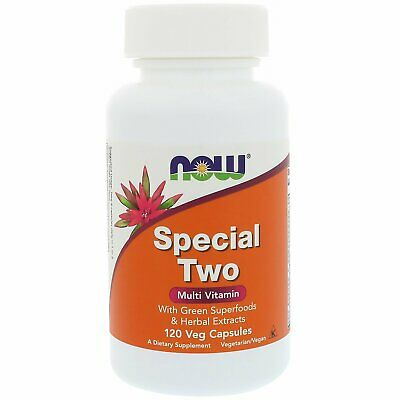 Now Foods Special Two Multi Vitamin 120 Veg Capsules GMP Quality Assured,