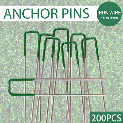 100-300x Lawn Tent Anchor U Pegs Weed Mat Fastening Turf Pins Grass Synthetic AU