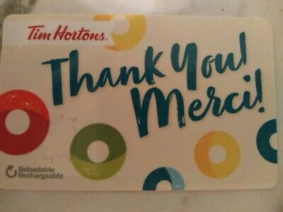 Collectable Tim Hortons Thank You Gift Card #Fd56321..No Monatary Value