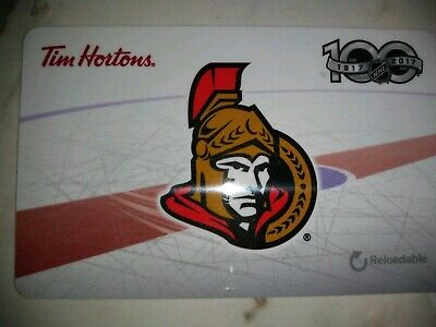 Collectable Tim Hortons Ottawa Senators Gift Card #Fd59159..No Monatary Value
